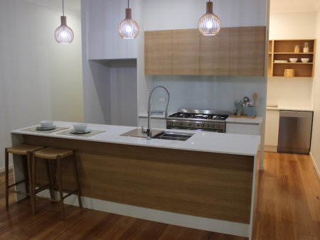 Lamiwood Doors with Stone Benchtop